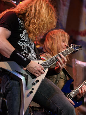 Dave Mustaine of Megadeth playing new Dean Guitars