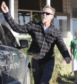 James Hetfield with his son Castor in Punta del Este, Uruguay on 12-25-11