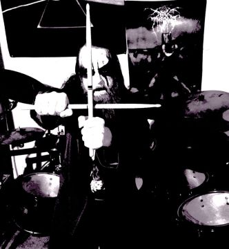 Projectionist-drummer