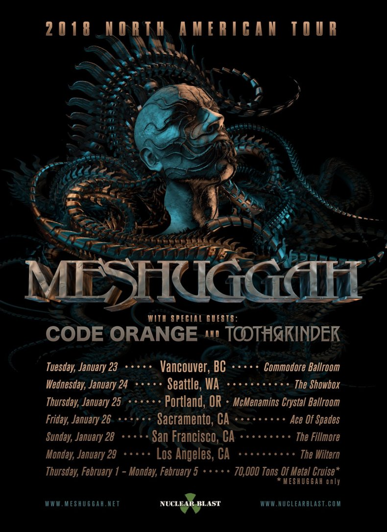 27021642 10156064224621170 7898899880426640220 o - GIG REVIEW: An Evening With MESHUGGAH Live at The Fillmore, San Francisco