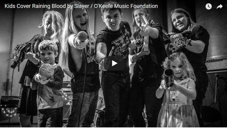 "okeefe MF - Watch These Kids' Brutal Cover of SLAYER's Classic Song ""Raining Blood"""
