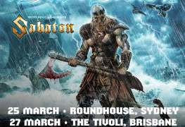 AA Aus - GIG REVIEW: Amon Amarth & Sabaton Live at The Tivoli, Brisbane