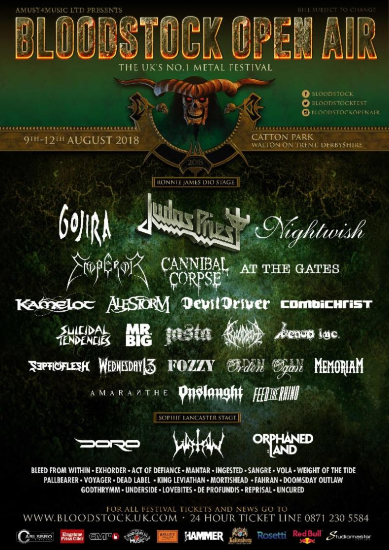 Bloodstock 2018 - FESTIVAL REVIEW: BLOODSTOCK OPEN AIR 2018 Live at Walton-on-Trent, Derbyshire, UK – Day 2 (Saturday)