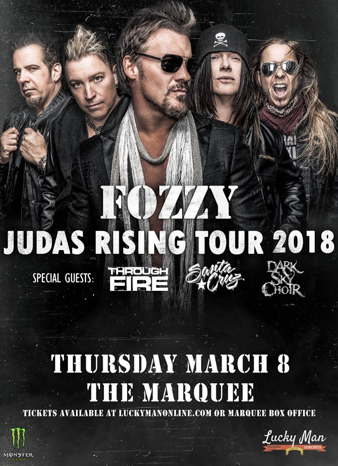 fozzy flyer - GIG REVIEW: An Evening With FOZZY Live at Marquee Theater, Tempe, AZ