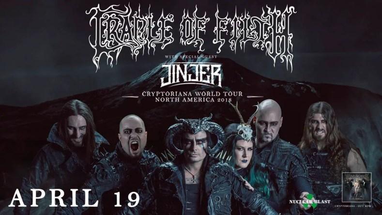 CradleOfFilth US - GIG REVIEW: Cradle Of Filth, Jinjer & Uncured Live at St. Andrews Hall, Detroit
