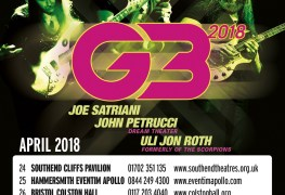 G3 - GIG REVIEW: An Evening With G3 - Joe Satriani, John Petrucci & Uli John Roth Live at Hammersmith Eventim Apollo, London