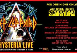 def leppard - TOUR: Rock Icons DEF LEPPARD & SCORPIONS Primed To Tour Australia This November