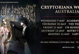 Cradle Aus - GIG REVIEW: An Evening With CRADLE OF FILTH Live at The Triffid, Brisbane