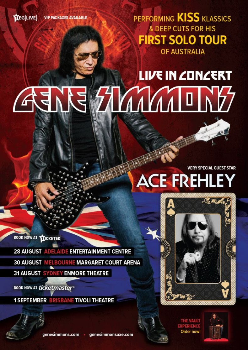 Simmons Aus - GIG REVIEW: An Evening With GENE SIMMONS & ACE FREHLEY Live at The Tivoli, Brisbane
