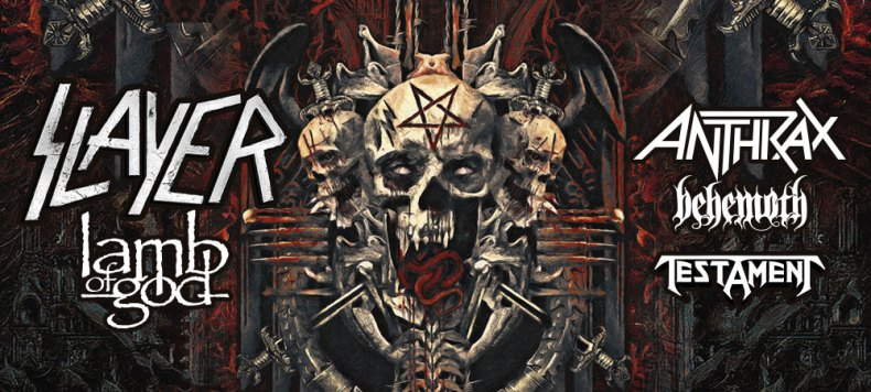 Slayerr - GIG REVIEW: Slayer, Lamb Of God, Anthrax, Behemoth & Testament Live at Freedom Hill, Detroit, MI