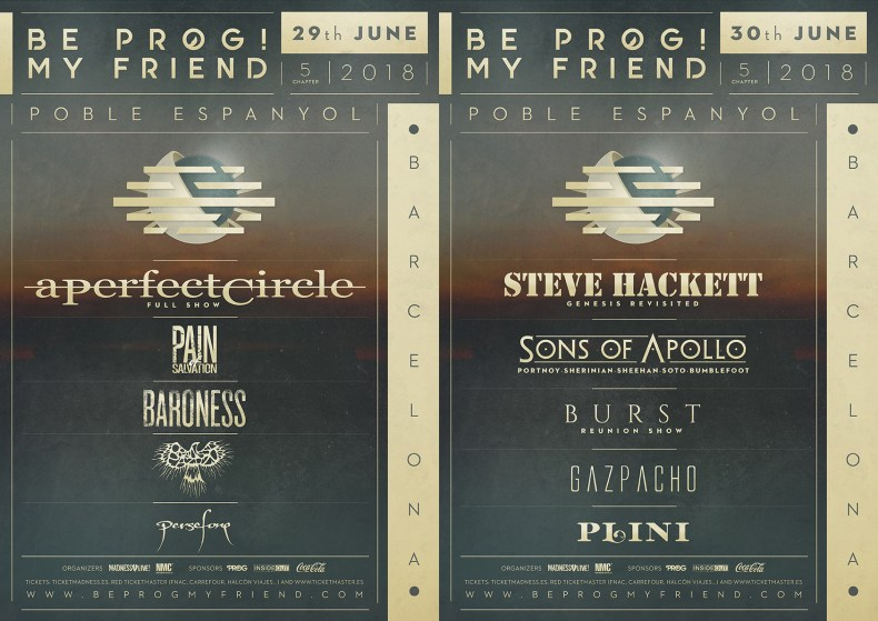poster beprog dias 2018 web 2 - FESTIVAL REVIEW: BE PROG! MY FRIEND 2018 Live at Poble Espanyol, Barcelona - Day 1 (Friday)