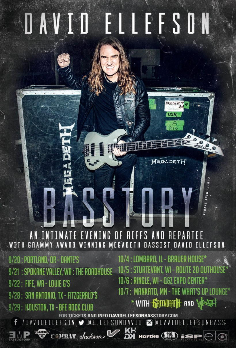 Basstory - INTERVIEW: DAVID ELLEFSON on 'Basstory', 'More Life With Deth' Book & Upcoming Studio Albums