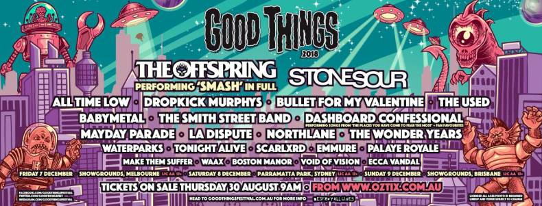 Good Things - FESTIVAL REPORT: GOOD THINGS Festival Announce Timetables and Local Support Acts For 2018 Edition