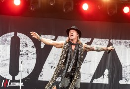 bloodstock day 3  60 - Chris Jericho Roughs Up Crazed Fan 'On Meth' For Rushing FOZZY Tour Bus & Injuring Crew