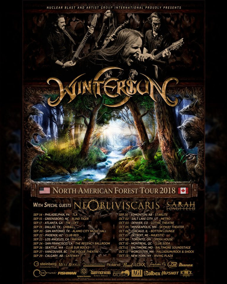 Wintersun tour 2018 - GIG REVIEW: Wintersun, Ne Obliviscaris & Sarah Longfield Live at the Bottom Lounge, Chicago, IL