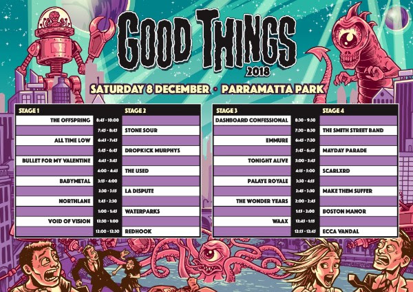 unnamed 1 - FESTIVAL REPORT: GOOD THINGS Festival Announce Timetables and Local Support Acts For 2018 Edition