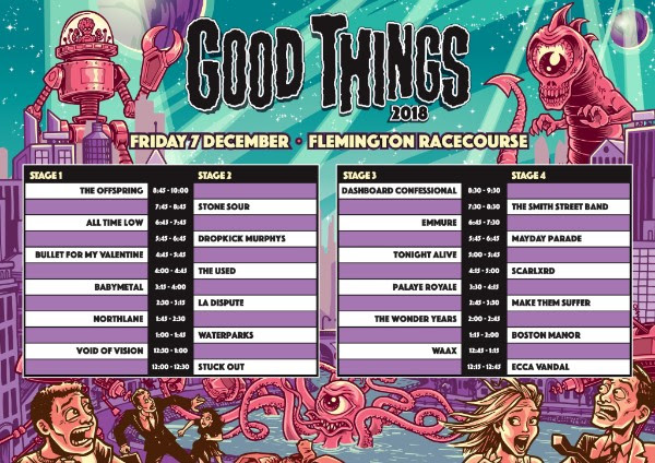 unnamed 2 - FESTIVAL REPORT: GOOD THINGS Festival Announce Timetables and Local Support Acts For 2018 Edition