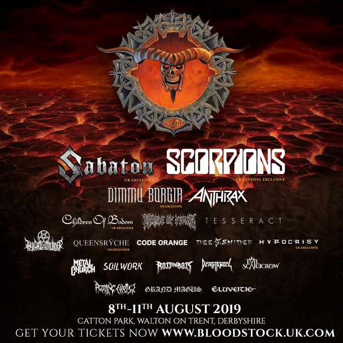 Bloodstock 4Dec2019 - FESTIVAL REPORT: BLOODSTOCK Announce 4 New Bands For 2019 Edition