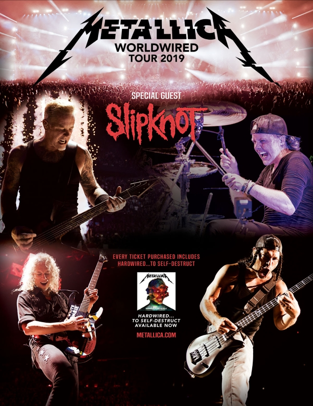 SlipMetallica - TOUR: METALLICA & SLIPKNOT To Join Forces For Tour Of Australia & New Zealand