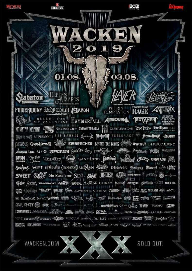 WOA 2019 - FESTIVAL REVIEW: WACKEN OPEN AIR 2019 Live at Schleswig-Holstein, Germany – Day 2 (Friday)