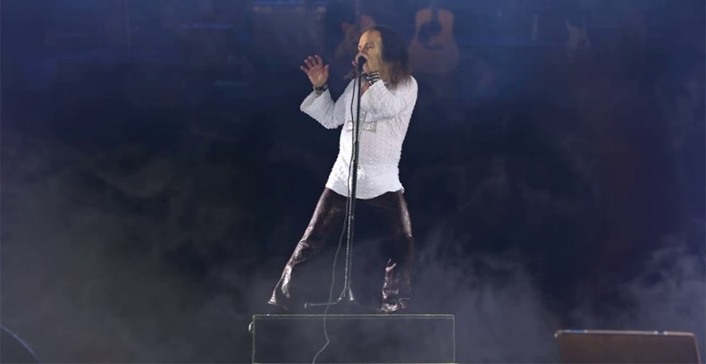 Ronnie James Dio Hologram - Report: RONNIE JAMES DIO's New Hologram Tour Has Received Lukewarm Reception;