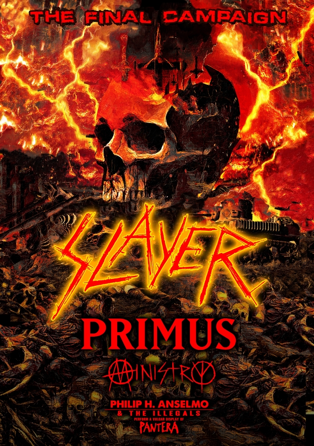 Slayer Final Tour - SLAYER Announces The Final Campaign Tour With Primus, Ministry & Philip Anselmo & The Illegals