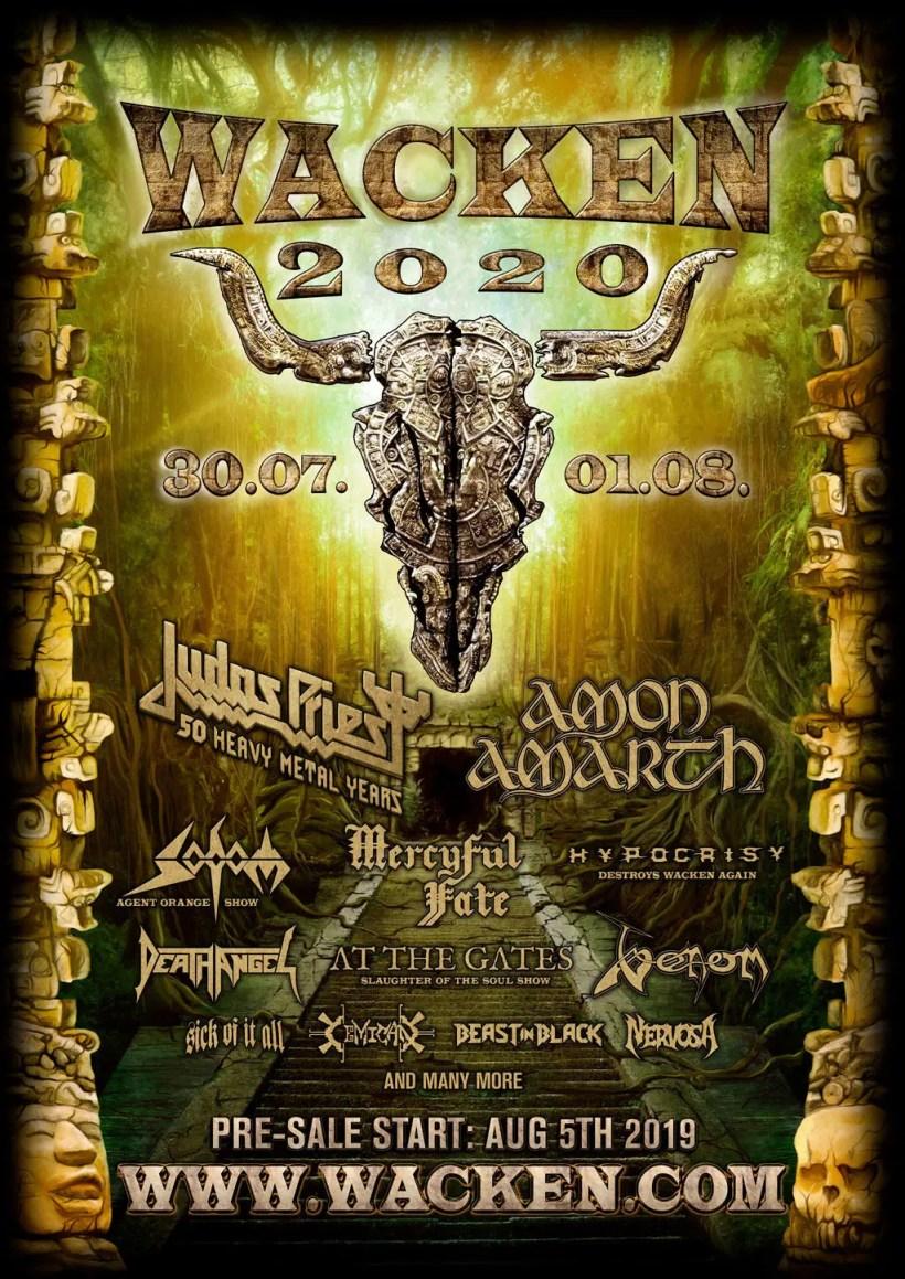 WOA 2020 - JUDAS PRIEST Announce First Show of 50th Anniversary Tour