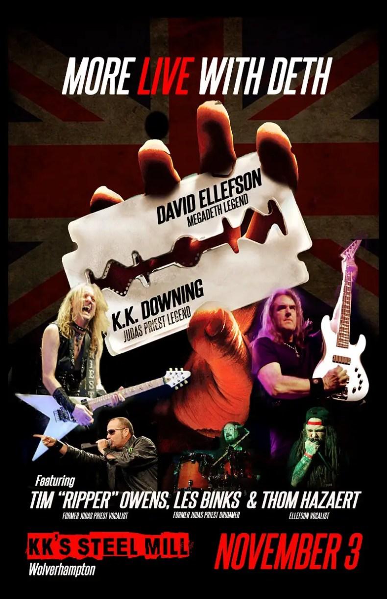 JudasPriest DavidEllefson - Former JUDAS PRIEST Members KK Downing, Les Binks & Tim Owens To Perform Band's Classic Songs