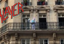 rock bunny slayer - Watch This Rock Bunny Smash SLAYER's 'South Of Heaven' From His Balcony In France