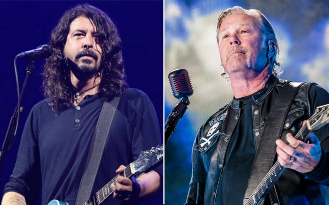 dave grohl james hetfield - Dave Grohl Recalls His Manager Telling Him To Be Better Than James Hetfield