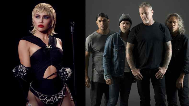 Miley Cyrus - MILEY CYRUS Is Working On METALLICA Covers Album