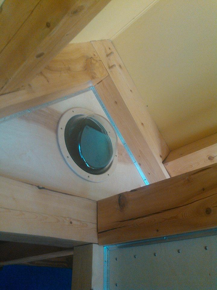 Loft window from washing machine door