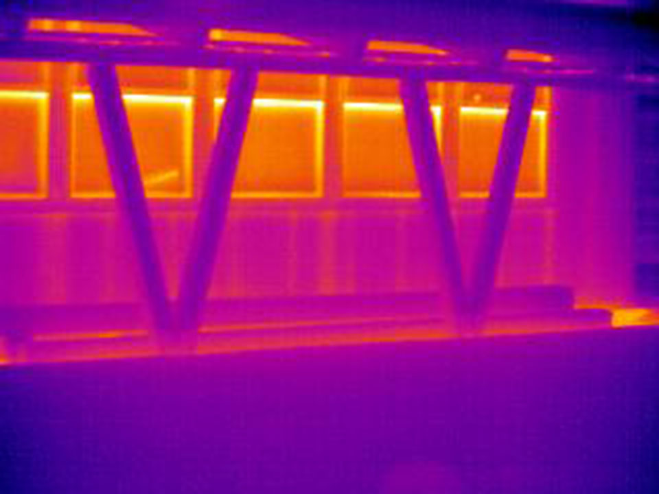 Using an infrared camera to evaluate heat loss in a building