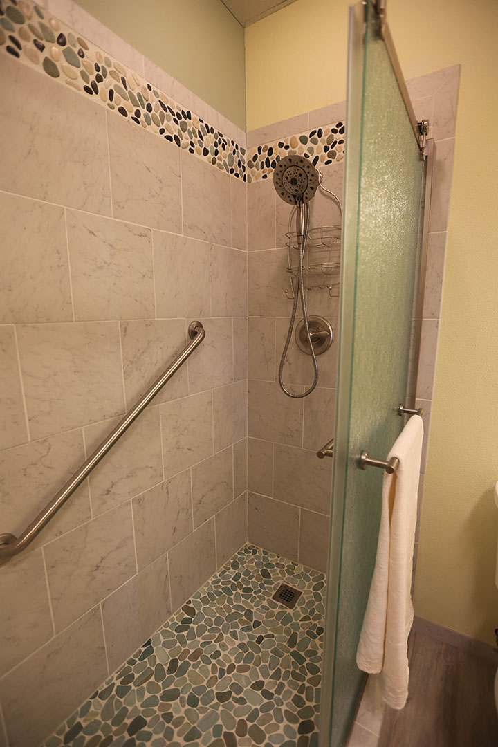 Tile and stone shower