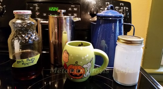 french press coconut milk maple syrup
