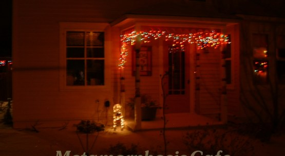 christmas lights porch