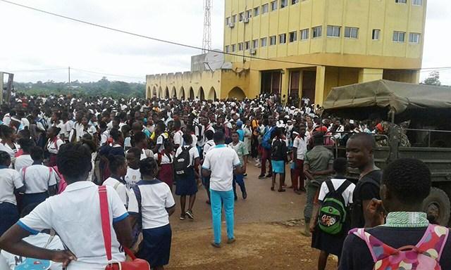 Makokou : Une dizaine d'élèves gardés à vue