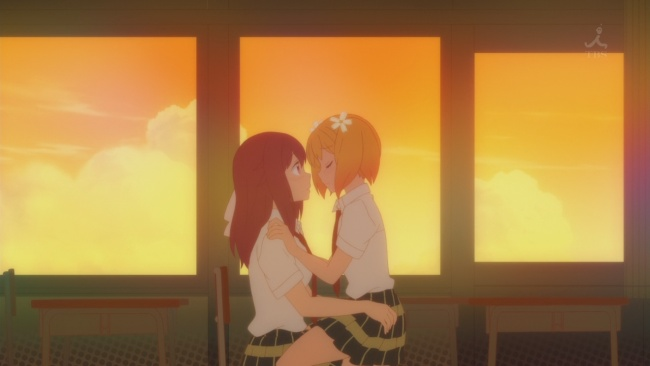 Sakura Trick-Haruka gets Yuu back