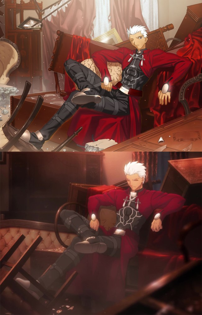 Fate stay nigh - UBW - Archer before and now