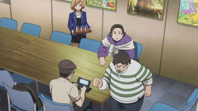 Shirobako-Kinoshita gets into it.