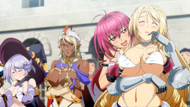 Bikini Warriors - Paladin attack