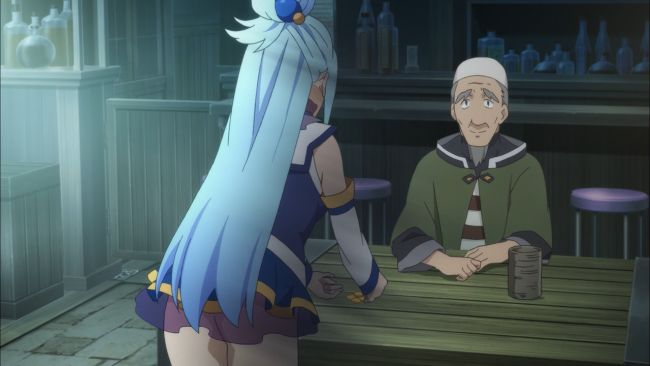 KonoSuba - relying on others