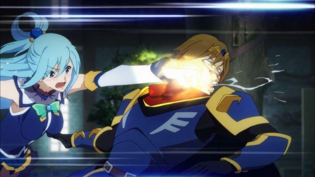 KonoSuba - god punched