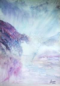 MIST IN CHIAVENNA (watercolour)