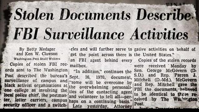 1971 – Citizens' Commission to Investigate the FBI (2015)