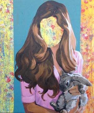Bunny, 2017, oil on canvas, 120 x 100 cm