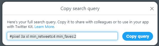 Copy Search Query