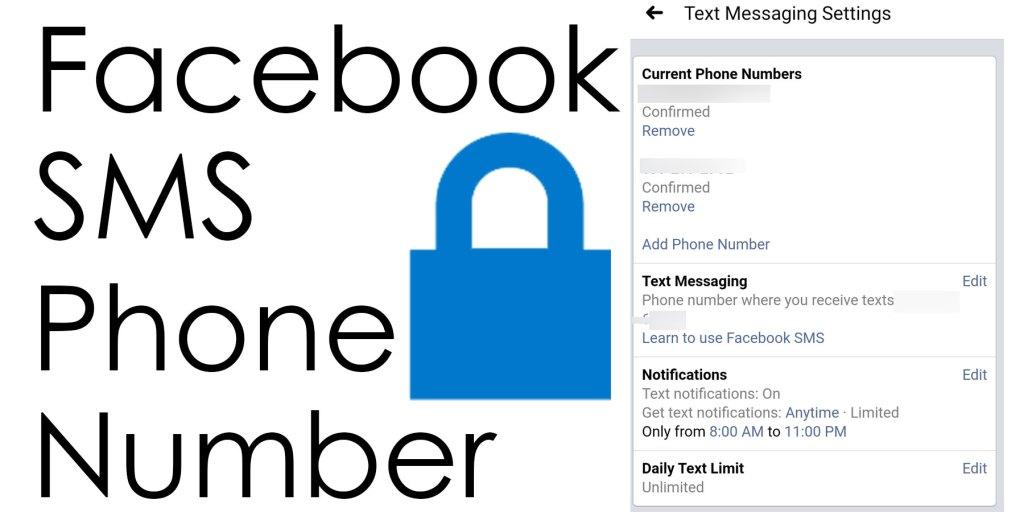 Facebook SMS verification