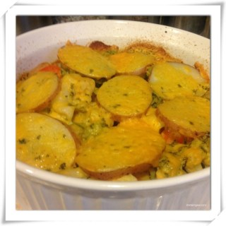 Sunday Brunch… Potatoes and Vegetables Gratin