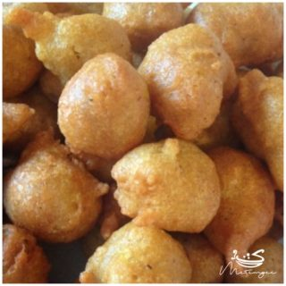 Pholourie… fried split peas dough